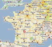 Kaart Masseret limousin